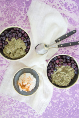 Berry Green Chia Porridge